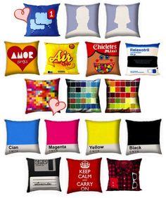 Almofadas criativas (com dica de onde comprar) - Girl Stuff