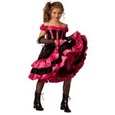 Look at this Black & Pink Can Can Dancer Dress-Up Outfit - Girls by BuySeasons Direct Halloween Costumes For Girls, Girl Costumes, Halloween Kids, Dance Costumes, Costume Ideas, Costumes Kids, Carnival Costumes, Adult Costumes, Halloween Party