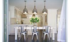 East Hampton Beach House || Wide-Plank Whitewashed Picnic Table || Chango & Co.