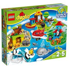 Go Around the World on LEGO® DUPLO® adventures!This special LEGO® DUPLO® Around the World set puts a world of animals at your...