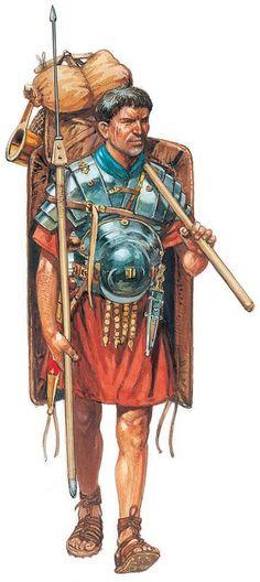 Peter Dennis. Roman legionary.