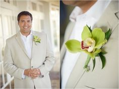 Men Beach Attire Wedding without flower
