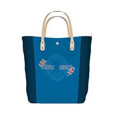 モダンレトロな金魚デザインシリーズ。 色んなグッズで統一感を楽しんで見てね!^ ^/GOLD FISH!! tote bag - MIWAKU