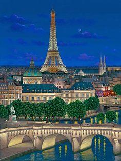 by Liudmila Kondakova Paris 3, I Love Paris, Georges Seurat, Miraculous Marinette, Maurice Utrillo, Image Paris, Monuments, Paris Illustration, Edward Hopper