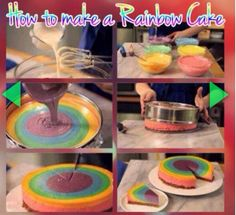 Make Your Own Rainbow Cake
