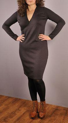 Sukienka kopertowa #1, Szablon do pobrania, free sewing pattern.