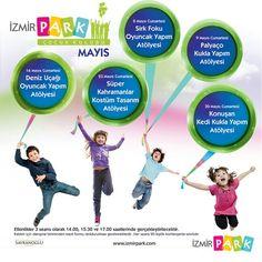 Eğlenceye Devam!  İzmir Park Çocuk Kulübü, Mayıs ayında da birbirinden eğlenceli etkinlikleriyle minik misafirlerini bekliyor.