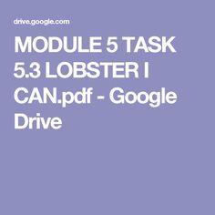MODULE 5 TASK 5.3 LOBSTER I CAN.pdf - Google Drive By Mª del Carmen Martín Rodrigo.