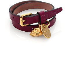 Alexander McQueen Leather Skull Wrap Bracelet on shopstyle.com