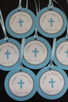 Baptism/Christening Favor Tags for Boys by LexiPrints on Etsy, $12.50