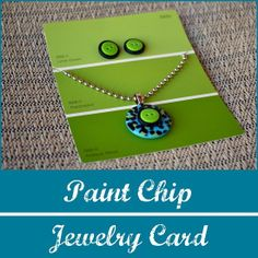 Paint chip earring card
