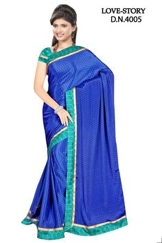 Sakshi Love Story Collection Blue Color Georgette Saree (Offer Price: Rs 1300 , Offered Discount: 28%) ** BUY NOW ** [MRP: Rs 1800]