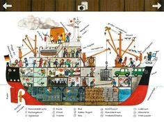 iPad Wimmelbuch App von Ali Mitgutsch: Komm mit ans Wasser