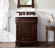 "26"" Brookfield Burnished Mahogany Single Bathroom Vanity – VANITIES EXPO"