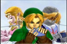 Link, Zelda/Sheik from Super Smash Bros. Melee.
