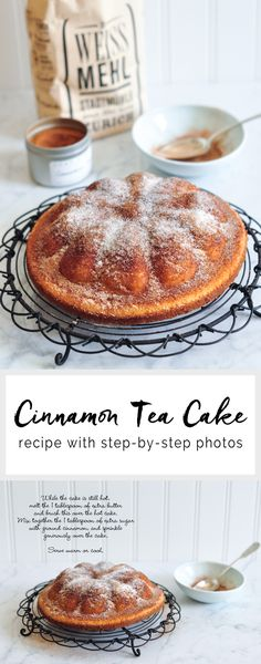 An easy recipe for cinnamon cake that is fast and simple to make, and perfect for breakfast or dessert. Cupcakes, Cupcake Cakes, Cinnamon Tea Cake, Cake Recipes, Dessert Recipes, Delicious Desserts, Yummy Food, Cinnamon Recipes, Tea Cakes