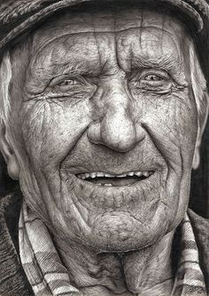 16-year-old artist Shania McDonagh won the top prize for the 2014 Texaco Children's Art Competition with this hyperrealistic drawing of a man titled Coleman.