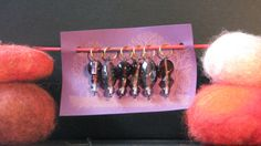 handmade stitch markers recycled glass beads by BullyWoolYarns, $8.00