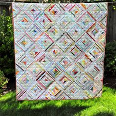 PLEASANT HOME: Scrappy 2010 Selvage Quilt FINISHED !