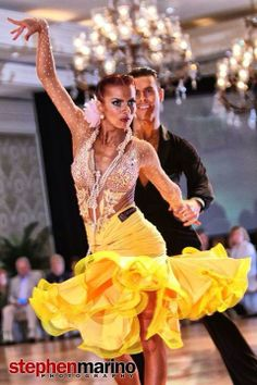 our sponsored latin dance couple Jake Davies and Alyona Kalinina in our latin dance wear in action :)