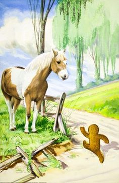 Gingerbread boy and horse - The Gingerbread Boy - Robert Lumley ...