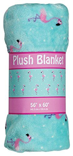 Amazon.com - iscream / Flamingos Extra-Thick Fleece Throw Blanket -