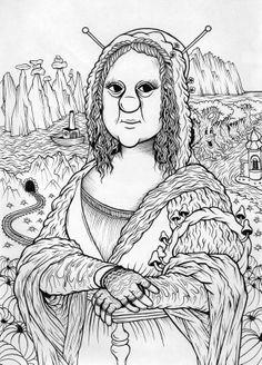 La Gorgonda (b&w) [Seva Vyvodtsev] (Gioconda / Mona Lisa)