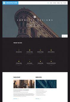 Architect WP Template wordpress website template Web Design, Email Design, Wordpress Template, Wordpress Theme, Archive Website, Wordpress Website Design, Website Template, Seo, Website Ideas