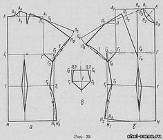 3. Блузка с короткими цельнокроеными рукавами и ластовицей - Блузки - Раскрой и шитье женской одежды - Всё о шитье - Шей сама