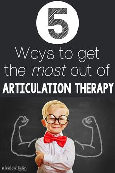 Get the most out of your articulation speech therapy using these 5 techniques!