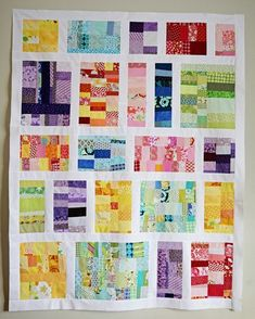 Scrappy quilt....all from fabric scraps. Got tons of those....