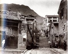 Man Mo Temple. Hollywood Road - Picturing HK Photography 1855-1910_p. 63 Look at the hills!