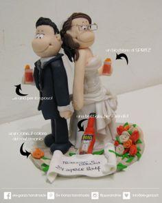 ...ele-ganza...: cake topper #matrimonio personalizzato #customcaketopper #caketopper #toppercake #topcake #weddingidea #weddingcake #wedding #bride #weddingcaketopper #sopratorta #cakedesign #cakeidea #caketop #fimo #clay #clayproject #aperol #spritz #brindisi #clayminiature www.ele-ganza.it