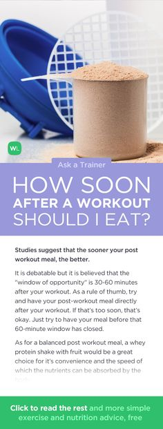 How soon after a strength training workout should I eat? Visit http://wlabs.me/1puiFgx to find out!