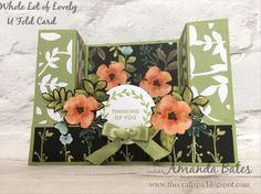 Whole Lot of Lovely U Fold Card by Amanda Bates at The Craft Spa. Independent Stampin' Up! UK Demonstrator, Blogger & Online Shop