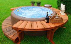 Japanese style hot tub
