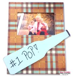 DIY Frame for Grandpa - Here's a frame that our designer team created using an unfinished frame that they covered with paper using Mod Podge as their glue. They used our die-cut machine to cut the bottle shape. Grandpa will love his new photo frame! Mod Podge Crafts, Fun Crafts, Frame Crafts, Diy Frame, Frame Display, Frame Shop, New Photo Frame, Die Cut Machines, Old Boxes
