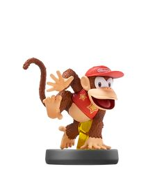 Diddy Kong Series: Super Smash Bros.  Diddy Kong is Donkey Kong's trusty partner. He sports his signature look: red hat, red shirt and Rocketbarrel Pack. He's famous for his quickness and his long tail. Diddy usually plays second banana to DK, but he recently teamed up with DK, Dixie, and Cranky to save his home DK Island from invading arctic Snomads.