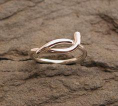 Snake Ring Sterling Silver Jewelry Size 6.25 Modern Medusa by SARANTOS. $95.00, via Etsy.