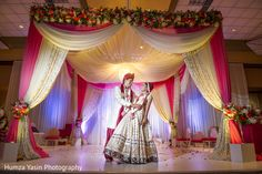 The Indian wedding ceremony takes place!