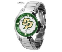 The Titan Steel Cal Poly Mustangs Watch features a quartz accurate movement, stainless steel band and Mustangs team logo. Very Stylish. Free Shipping.  Visit SportsFansPlus.com for Details.