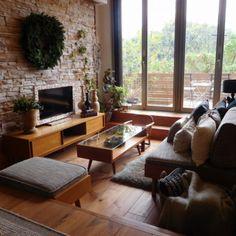 akisakiさんの、リビング,リース,スキップフロア,冬支度,のお部屋写真