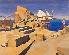 The Forty Foot, Sandycove (1940) © Harry Kernoff, courtesy Crawford Art Gallery and AIB Collection