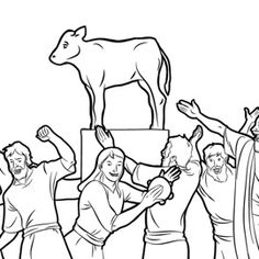 Picture Activity-What Is Different? / The Israelites Make a Golden Calf   Family Worship Projects