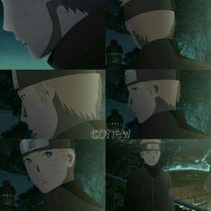 Naruto begs to be his father in the wedding.  Iruka sensei