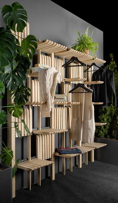 Artem Zakharchenko Has Designed A Versatile Wood Shelving System Artem Zakharchenko has designed the 'Gate' furniture system that consists of a modern wood shelving unit that can be used as a wardrobe, living room furniture, kitchen storage, and more. Smart Furniture, Modular Furniture, Woodworking Furniture, Repurposed Furniture, Living Room Furniture, Modern Furniture, Furniture Design, Furniture Storage, Furniture Ideas