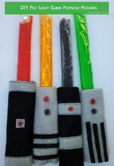 Summer fun Ideas- Felt light saber popsicle holders