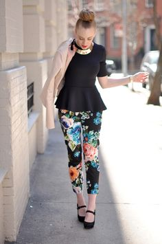 bought these pants last week (H&M, $15!) and I adore them. Love the way she's styling them here..