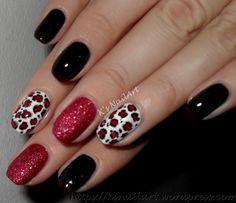 Sassy Nails, Love Nails, Red Nails, Fabulous Nails, Gorgeous Nails, Pretty Nails, Leopard Print Nails, Red Leopard, Red Cheetah Nails