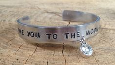 Slagletter Armband - I Love you to the Moon and Back